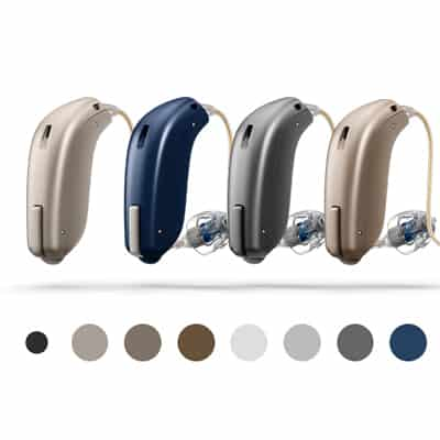 colours for oticon hearing aids
