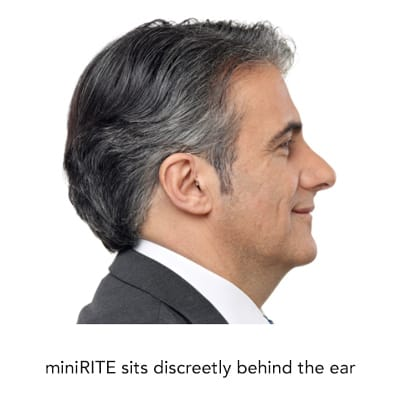 side view of oticon hearing aid