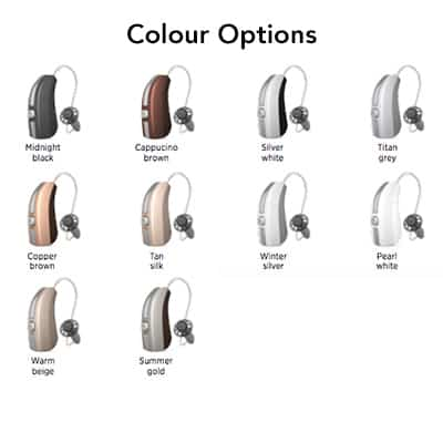 hearing aids colours